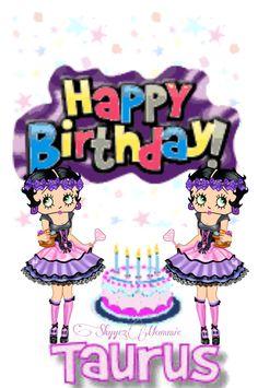 Happy BirthDay Taurus, Betty Boop Taurus Betty Boop Birthday, Happy Birthday, Spice Mixes, Taurus, Celebrations, Bb, The Creator, Holidays, Fictional Characters