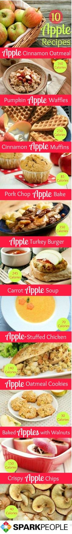 Easy and #healthy #apple #recipes for #fall!! | via @SparkPeople #healthyrecipes #apples #healthyeating