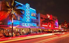 """""""Miami, like someone you meet at a bar, might initially seem to lack some depth, but once you get to know her you'll realize she's super cute inside and out. Miami Beach, South Beach, Places Ive Been, Places To Go, Miami Art Deco, Rap Beats, Ocean Drive, Night Life, Around The Worlds"""