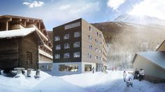 With a private spa and pool the most luxurious youth hostel opens in Switzerland : Luxurylaunches Saas Fee, Hostel, Hotels And Resorts, Switzerland, Multi Story Building, Youth, Spa, Explore, Luxury