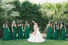 dark hunter green bridesmaid dresses - Google Search