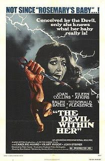 The Devil Within Her Movie Joan Collins, Donald Pleasance Horror Movie Posters, Movie Poster Art, Horror Films, Horror Icons, Horror Art, Donald Pleasence, Caroline Munro, Joan Collins, She Movie