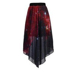 Galaxy high-low skirt!!!! Love!!! If it weren't red...