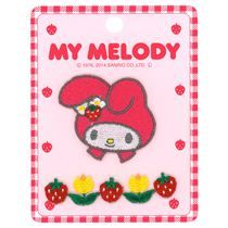 My Melody strawberry flower decoration iron-on transfer patches 2 pieces