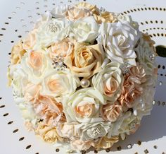 12. peach posy of artificial roses
