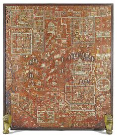 Map of Jain sacred sites - pilgrimage painting [tirtha pata] Gujarat, India, early century. Painting, pigments and gold on wood. Source: Here Indian Drawing, Jain Temple, Prayer Room, Indian Paintings, Graphic Design Typography, Pilgrimage, Islamic Art, Indian Art, Astronomy