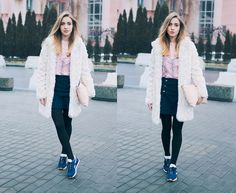 Anna P. - Faux fur coat and trainers: part 2