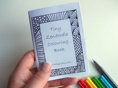 Printable Coloring Book Kids Activity Book Zentangle by JoArtyJo