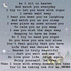As I sit in Heaven