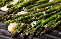 Asparagus Grilled with Garlic, Rosemary and Lemon