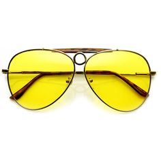 """- Description - Measurements - Shipping - As seen on Johnny Depp in the movie """"Fear And Loathing Las Vegas"""". Large teardrop metal aviator that features a prominent crossbar across the top with a circl"""