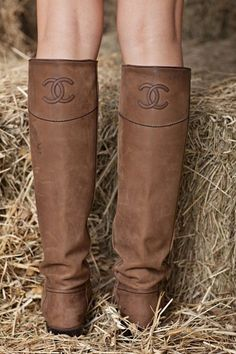 Leave it to Chanel to perfect the riding boot