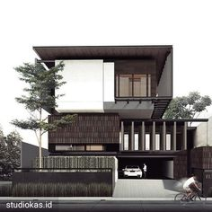 Image may contain: outdoor Modern Architecture House, Facade Architecture, Residential Architecture, Interior Architecture Drawing, Villa Design, Facade Design, Exterior Design, Arch House, Facade House