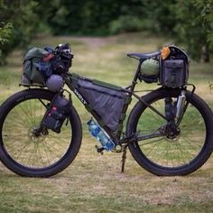 roadbikecity:  Travel bike #tent #cycle  I love this bike! I wonder how much it costs