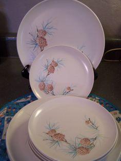 Mid Century Melmac Plates Stetson Dinnerware 11 Plates Melamine Turquoise C&ing & Vintage 25 piece set of Meldale genuine Melamine/Melmac Dinnerware ...