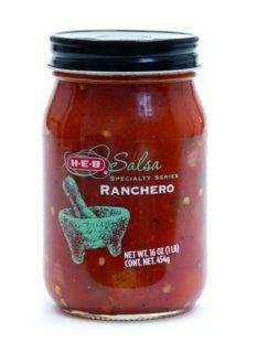 HEB Salsa - Film label on glass jar