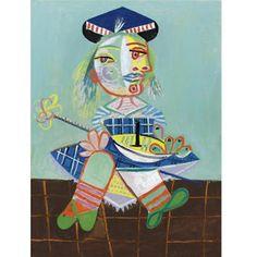 La fille de l'artiste à deux ans et demi avec un bateau (1935) Pablo Picasso