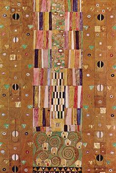Knight - Stoclet Frieze, detail, by Gustav Klimt