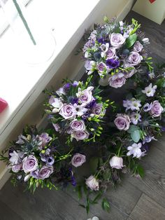 Beautiful wedding flowers in shades of lilac, purple & blue, created by All About Flowers, Johnstone, Renfrewshire, Scotland