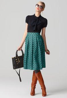 Milly, Fall 2011, Perfect Pleat Midi Skirt