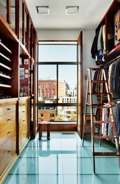 The master closet has more natural light than most Manhattan bedrooms..