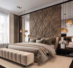 Luxury bedroom design ideas to inspire you 35 Modern Luxury Bedroom, Master Bedroom Interior, Luxury Bedroom Design, Master Bedroom Design, Luxury Interior Design, Contemporary Bedroom, Luxurious Bedrooms, Home Decor Bedroom, Bedroom Lamps