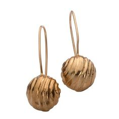 22K Gold Plated Hanging Earrings from golden bell by cityofdavid