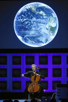 """Canadian cellist Zoë Keating introduced her new track """"Leap"""" at the WEF in Davos last January 2014 accompanied by stunning visuals. Annual Meeting, Leap Of Faith, Classical Music, Cello, Movie Posters, Moon, The Moon, Film Poster, Cellos"""