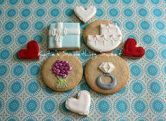 gallery of rosey sugar cookies   Katie's Something Sweet}: Wedding Cookies