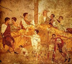 Pompeii family feast painting Naples - Culture of ancient Rome - Wikipedia, the free encyclopedia