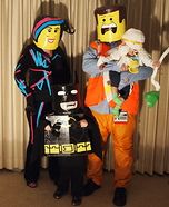 Fun family Halloween costume ideas - The Cast of the Lego Movie Homemade Costume