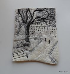 This is cool! Felting and Thread Sketching - week 6: Felters Journey