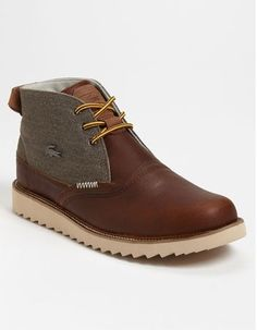Lacoste 'Farmington Boot available at Formal Shoes, Casual Shoes, Nike Outfits, Zapatillas Casual, Mens Boots Fashion, Men S Shoes, Designer Shoes, Leather Shoes, Me Too Shoes