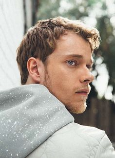 Alfie Allen wearing the Splatter Hooded Sweat