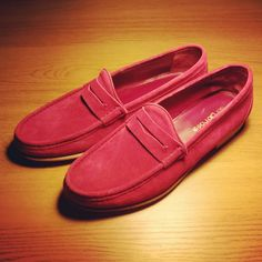 Suede Penny Loafers. // Just picked these up for the sunshine.. Buttery!