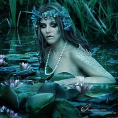 Rusalka- In Slavic lore, they are female ghosts, water spirits, mermaid-like demons that dwell in waterways.