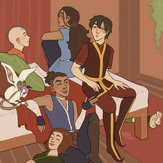 By hapansade on Tumblr Avatar Airbender, Team Avatar, Air Bender, Avatar Couple, Zuko, Best Tv Shows, Anime, Fandom, Animation