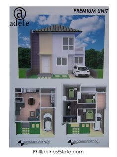 Adele Residences Premium Units- with Kitchen Extensions/Improvements, extra Bedroom and Bathroom & terrace at Floor. Kitchen Extensions, Extra Bedroom, Ground Floor Plan, Lots For Sale, 2nd Floor, Adele, Terrace, New Homes, Floor Plans