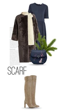 """Winter Scarf Style"" by bliznec ❤ liked on Polyvore featuring Jil Sander, Alma Rosa Shearlings, I Love Mr. Mittens, Gianvito Rossi, Winter, scarf, polyvoreeditorial and polyvorecontest"