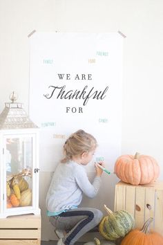 What're you thankful for? Make a list this #Thanksgiving and fill it in!