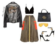 Safari Chic. by queenleestyles on Polyvore featuring polyvore, мода, style, T By Alexander Wang, Gucci, Prada, Tom Ford, fashion and clothing