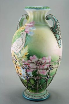 This is a gorgeous hand painted Limoges antique porcelain Vase.To display on French Console in Foyer srea.