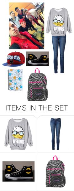 """""""school with im5"""" by supernatural-fan-1999 ❤ liked on Polyvore featuring art"""
