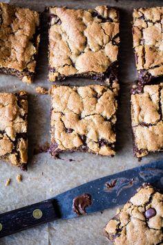 Healthy...ish Chocolate Chip Cookie Bars | halfbakedharvest.com @hbharvest