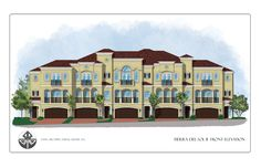 The elevation drawing for Jupiter townhomes for sale Tierra del Sol is a grand design that has a fantastic profile.