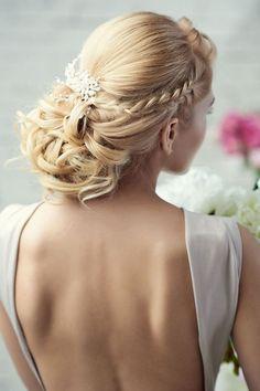 Greek wedding hairstyles : intricate wedding hairstyle for long hair