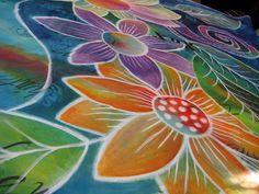 acrylic ink on fabric tutorial - Judy Coates Perez