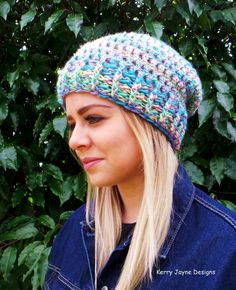 WOMENS SLOUCH BEANIE Crochet pattern Quick by KerryJayneDesigns Slouch Beanie  Crochet Pattern 153990467491