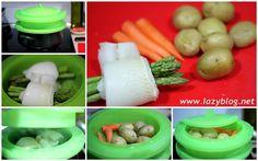 Lazy Blog: Receta ligera de lenguado al vapor con verduras