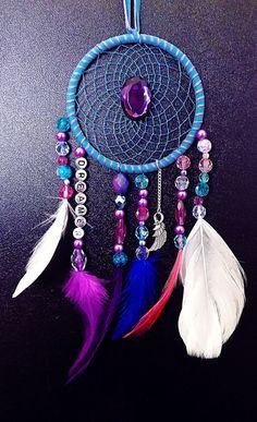 best blue boho decor | Dreamcatcher, bohemian dreamcatcher, bohemian decor, purple and blue ...